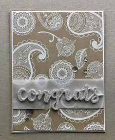 Coloring Kraft Cardstock with Different Mediums Using SU Paisleys & Poises - The Stamp Cycle