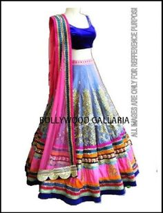 Lavishing Multi Color Pure Net Embroidered Designer Lehenga