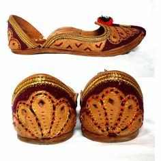 FARIDA Moroccan Vintage Handmade Leather Flat Shoes by bOmode990 x 990 | 268.6 KB | www.etsy.com