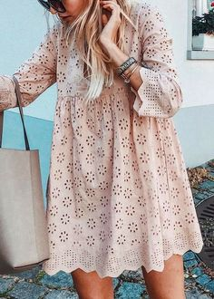Eyelet V Neck Women Dresses Going Out Casual Cotton Dresses - - Fantacylady Summer Dresses Long Sleeve 1 Casual Dresses Holiday V Neck Holiday Eyelet Dresses – fantacylady Source by Casual Cotton Dress, Cotton Dresses, Casual Dresses, Maxi Dresses, Elegant Dresses, Formal Dresses, Wedding Dresses, Sparkly Dresses, Pretty Dresses