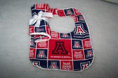 U of A  Football Team Baby Boy Girl Bib Burp Cloth by sososophie, $10.00