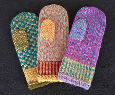 Free Knitting Pattern for Movie Night Mittens