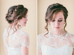 Hair Tutorial: Loose Braided Updo | Green Wedding Shoes Wedding Blog | Wedding Trends for Stylish + Creative Brides