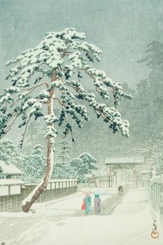 1957 - Hasui, Kawase - Honmon Temple at Ikegami - Art Gallery of Greater Victoria