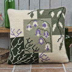 'Mosaic Harebells' Cross Stitch Cushion Kit by Twilleys of Stamford.