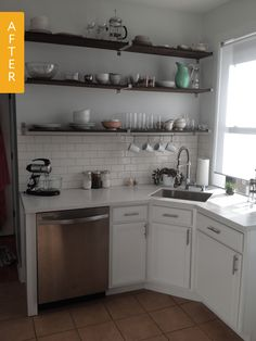 Before & After: A Tiny Kitchen Lightens up with a $6,000 Remodel — Reader Kitchen Remodel