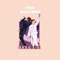 BTS pins Jikook Black & White, Hard enamel pins Pre-order ( Need fund! Hard Enamel Pin, Metal Pins, More Pictures, Jikook, Black And White, Bts, Collections, Black White, Black N White