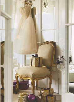 Maybe I'm not crazy for wanting to display my wedding dress... this person did it! One day...