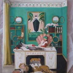 """Miss Mink Takes a Cat Nap"" by Janet Hill"