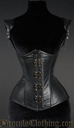 Black Leather Princess Clasp Corset #corset #underbust #leather #goth #gothic http://draculaclothing.com/index.php/black-leather-princess-clasp-corset.html