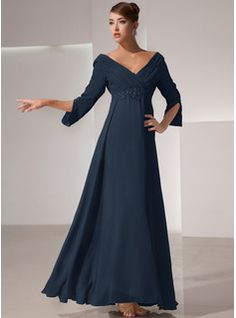 A-Line Square Neckline Asymmetrical Chiffon Mother of the Bride Dress With Appliques Lace Sequins (008235589) - JJ's House Brides Mom Dress, Mother Of The Bride Dresses Long, Ruffle Beading, Beaded Lace, Dress With Bow, I Dress, Bridesmaid Dresses, Wedding Dresses, Custom Dresses