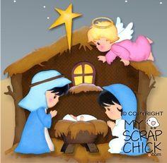Christmas Nativity 1- Manger: click to enlarge