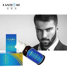 Facial Hair growth Herbal cream grow Beard Dense Mustache Sideburns Eyebrow Chest Hair Thick Treatment Serum Anti Bald Products