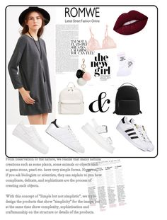 """""""black"""" by ecemstyles on Polyvore featuring adidas, STELLA McCARTNEY, MANGO, Yeah Bunny, La Perla, BP., GUESS and NIKE"""