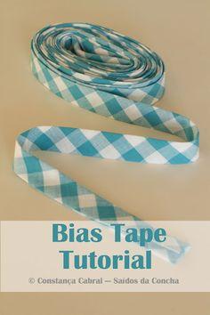 Outbound Concha: How Tape Bias Bias Tape :: Tutorial Quilting Tips, Quilting Tutorials, Sewing Tutorials, Sewing Patterns, Dress Patterns, Dress Tutorials, Coat Patterns, Techniques Couture, Sewing Techniques