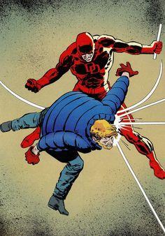 Daredevil vs. Matt Murdoch by David Mazzucchelli