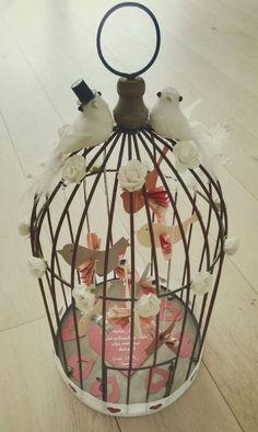 Birds in the cage / wedding / money gift- Vögel im Käfig / Hochzeit / Geldgeschenk Birds in the cage / wedding / money gift - Wedding Gifts For Bride, Diy Wedding Favors, Wedding Games, Bride Gifts, Gifts For Coworkers, Gifts For Husband, Gifts For Father, Diy Gifts For Men, Gifts For Mom