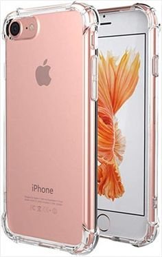 for iPhone 7 Case, for iPhone 8 Case, Matone Crystal Clear Shock Absorption Technology Bumper Soft TPU Cover Case for iPhone 7 8 - Clear - To buy again Pretty Iphone Cases, Cute Phone Cases, Iphone Phone Cases, Iphone Se, Apple Iphone, Buy Iphone 7, Iphone 7 Plus, Telefon Apple, Apple Watch