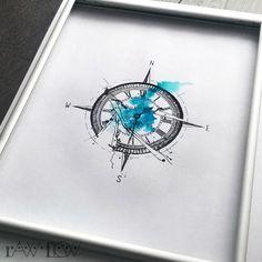 broken compass tattoo - Google Search