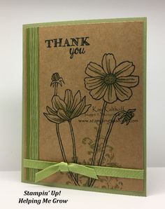 Stampin\' Up!, Clean and Simple, Helping Me Grow, How To Video, Kay Kalthoff, #stampingtoshare