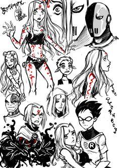 Titans sketch by Gretlusky on deviantART
