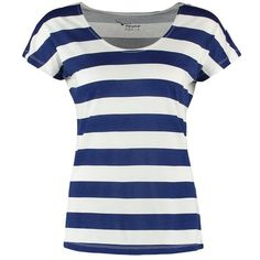 TWINTIP Basic Tshirt/white ($15) ❤ liked on Polyvore featuring tops, t-shirts, shirts, stripes, blue, blue shirt, crew t shirt, tall t shirts, t shirts and striped shirt