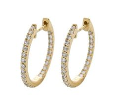 Shop for Yellow Gold Diamond Hoop Earrings. Get free delivery On EVERYTHING* Overstock - Your Online Jewelry Destination! Diamond Hoop Earrings, Jewelry Watches, Engagement Rings, Bracelets, Gold, Products, Certificate, Gold Stud Earrings, Gold Earrings