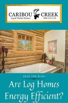 """What is the R-Value of log homes?"" This is one of the first questions perspective clients ask. Read our latest blog article to find out how log cabins stack up to traditionally framed homes! #loghome #logcabin #loghomes #logcabins"