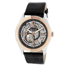 Kenneth Cole Automatic Watch with Embossed Strap