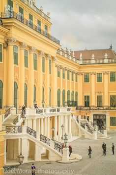 Front entry of Schonbrunn Palace, Vienna