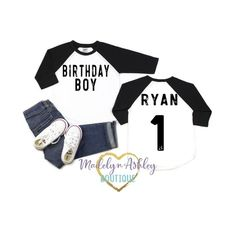 Birthday Shirt-Birthday Shirt For Boys-First Birthday Shirt-Birthday Boy Shirt-First Birthday Shirt-First Birthday-Birthday Outfit Trendy and Stylish is how your Little Boy will look in this adorable Birthday Shirt with the age printed in a vintage look Boys First Birthday Shirt, Family Birthday Shirts, Baseball Birthday, Family Birthdays, Girl Birthday, Dirt Bike Birthday, Boy Outfits, Cute Outfits, Boys Shirts