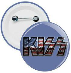 L051 - Botons e Chaveiros - Kiss - Wathsapp: (61) 9 9129-7213