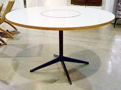 George Nelson Lazy Susan dining table, by Herman Miller