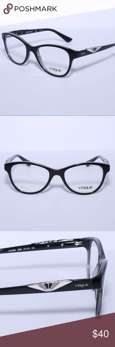 Vogue VO5055 2385 Black Oval Optical Frames Brand New 100% Authentic Vogue VO5055 2385 Black Oval Optical Frames Comes with Generic Case, NO Pouch Vogue Eyewear Accessories Glasses
