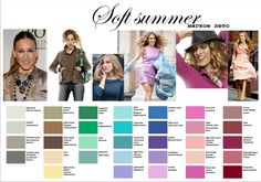 soft+summer+colors+to+wear | calm colors are your eye colors, compassionate, gentle