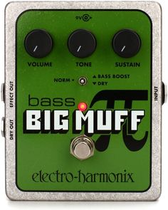 Fuzz Pedal for Bass Guitar with Volume, Tone, and Sustain Controls and a Bass Boost/Dry Toggle Guitar Bag, Guitar Shop, Guitar Pedals, Guitar Strings, Microphone Studio, Dj Equipment, Guitar Accessories, Fuzz, Bass Guitars