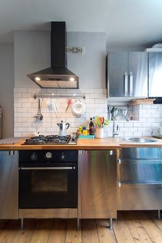 This Got Me Thinking: What About Concrete Finish Cabinets, Butcher Block Counter  Tops,