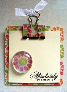 DIY Teacher Gift:  mini Post It Note clipboard with matching magnet