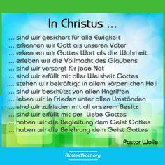 In Christus sind wir ...