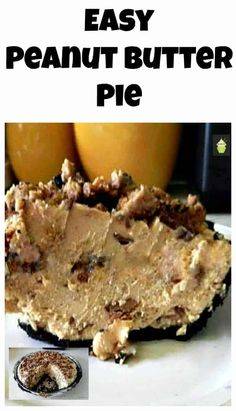 Every Peanut Butter Monster's dream! Peanut Butter Pie, A pure delight to ma… Every Peanut Butter Monster's dream! Peanut Butter Pie, A pure delight to make and oh yes… eating it will be dreamy too! Just Desserts, Delicious Desserts, Dessert Recipes, Yummy Food, Easy Peanut Butter Pie, Peanut Butter Desserts, Love Food, Sweet Tooth, Sweet Treats