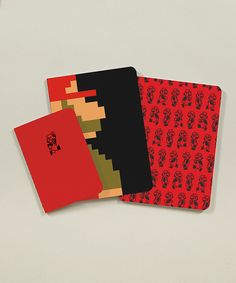 Super Mario Bros. Three-Piece Notebook Set