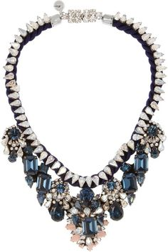 """absolutely stunning Shourouk necklace. I'd wear it with a simple white tank"" (Via evachen212.tumblr.com)"