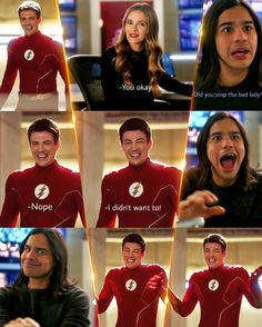 Dc Comics, Flash Funny, Flash Wallpaper, The Flash Grant Gustin, Minecraft Ideas, Supergirl, Memes, Funny Things, Houses