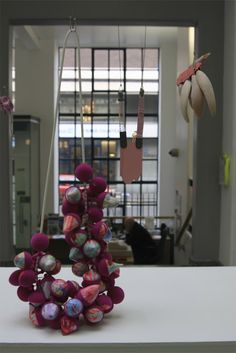 Suspended in Pink: January 2013. The work foregounded is by Zoe Robertson