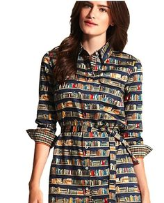Book Shirtdress (usa.tommy.com) | 37 Ways To Proudly Wear Your Love Of Books