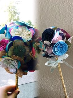 DIY practice bouquets for the wedding rehearsal!