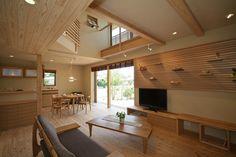 施工写真集|株式会社安成工務店 Home Interior Design, Interior Architecture, Modern Japanese Interior, Japanese House, House Rooms, Custom Homes, Interior Inspiration, Ideal Home, House Plans