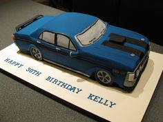 Car Cake Ford Falcon Cake - 351 GT Homemade By Hollie.
