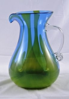 Blenko Glass Company    Handcrafted in America since 1893  ~ 1806 Fire and Ice Pitcher  #Blenko #made_in_America