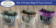 Knitters! Crocheters! I just entered to Win any HANDMADE PROJECT BAG by #winacushycushycouturebag You should too!